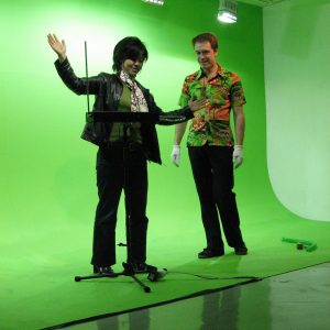 Theremin Performance in Green Box